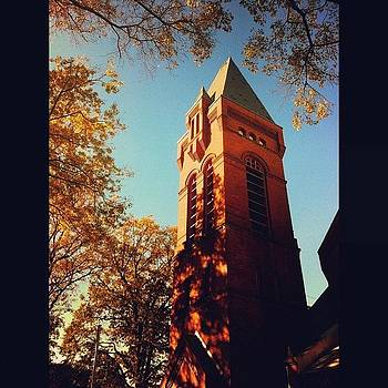#church #steeple #fall #bell #trees by Shawn Who