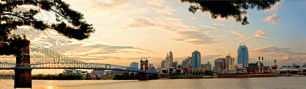 Randall Branham - Cincinnati Sunset Panorama