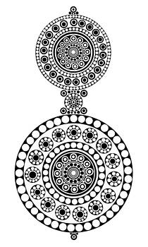 Circle Motif 241 by John F Metcalf