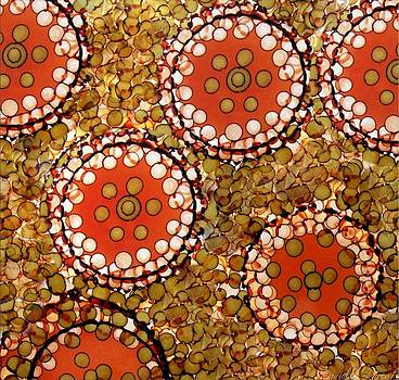 Circles And Dots Abstract Alcohol Inks by Danielle  Parent