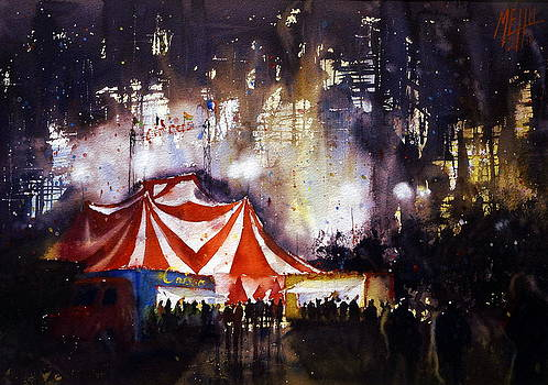 Circus in the night by Andre MEHU
