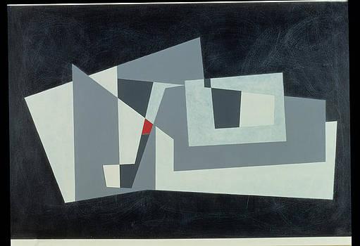 George Dannatt - Citadel, Version 3, 1982 Oil On Hardboard