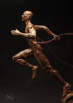 Adam Long - Citius Altius Fortius Runner over Black Olympic Art