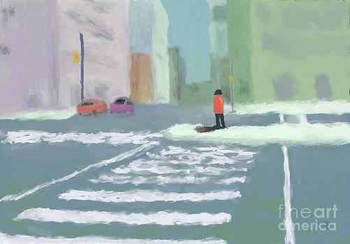 City Crosswalk by Arlene Babad