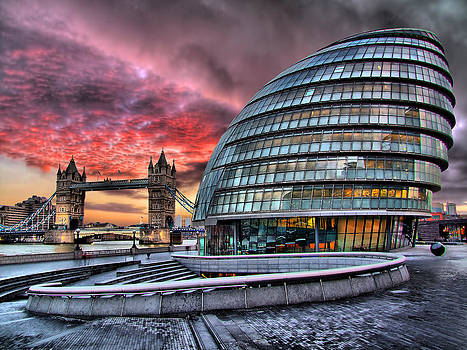 City Hall and Tower Bridge - London by Colin J Williams Photography