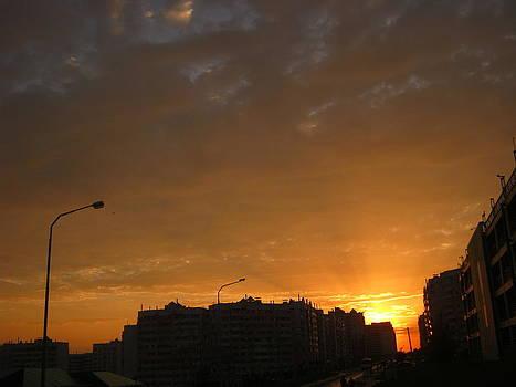 City Sunset 1 by Tatyana Primak