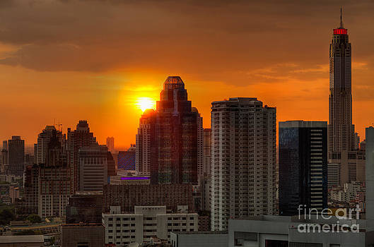 Fototrav Print - City Sunset Skyline