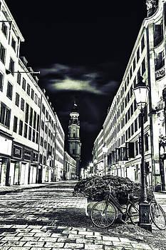 Cityscape at night light by Valerii Tkachenko