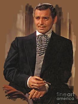 Clark Gable as Rhett Butler by Stephen Shub