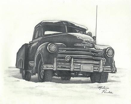Classic 1950s Chevy Pick-up truck by Melena Paradee