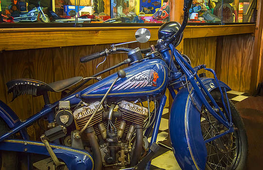 Classic Blue Indian  by Steve Benefiel