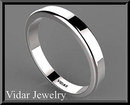 Classic Simple 14k White Gold Men's Wedding Ring by Roi Avidar