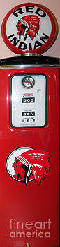 Wingsdomain Art and Photography - Classic Vintage Tokheim Red Indian Gas Pump DSC02738