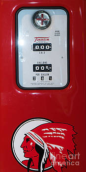 Wingsdomain Art and Photography - Classic Vintage Tokheim Red Indian Gas Pump DSC02739