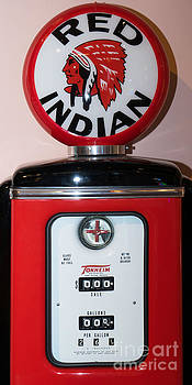 Wingsdomain Art and Photography - Classic Vintage Tokheim Red Indian Gas Pump DSC02740
