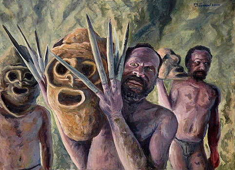 Clay masks by Marco Busoni