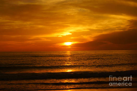 Clearwater Beach Sunset by Tina Stoffel