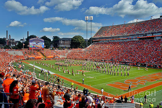Clemson Tiger Band Memorial Stadium by Jeff McJunkin