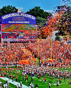 Clemson Tigers Memorial Stadium by Jeff McJunkin