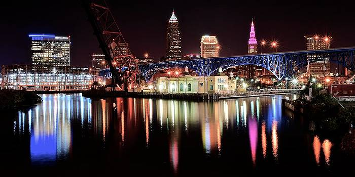 Frozen in Time Fine Art Photography - Cleveland Panoramic Reflection