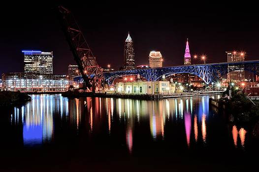 Frozen in Time Fine Art Photography - Cleveland Reflecting on the Cuyahoga