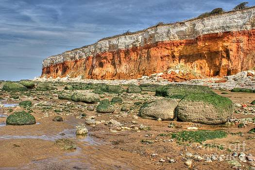 Cliffs at Hunstanton by David Birchall