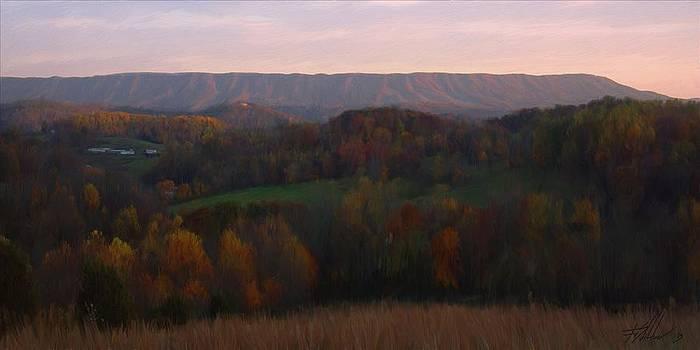 Clinch Mountain in Autumn by Forest Stiltner