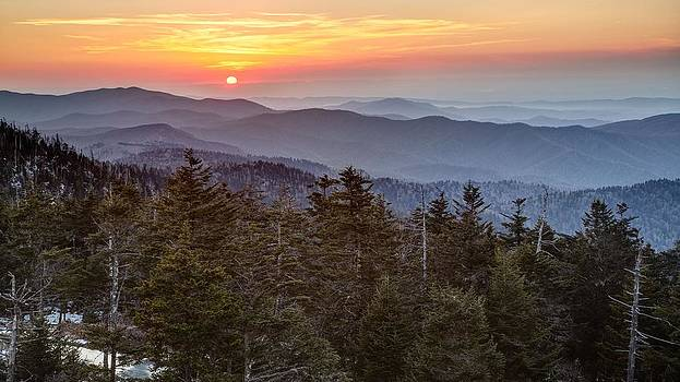 Clingmans Sunset by Johnny Crisp