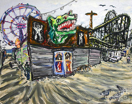Closed Coney Island Ride by Arthur Robins