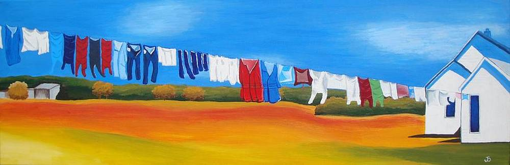 Clothes On The Line by Jeannette Brown