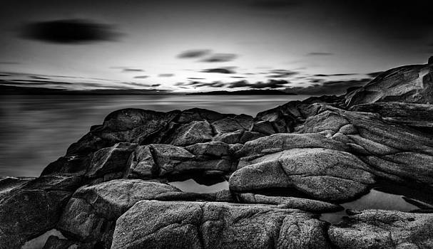 Clouds are running fast in black and white by Tommaso Di Donato