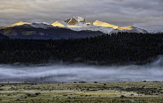 Clouds over Longs Peak by Tom Wilbert