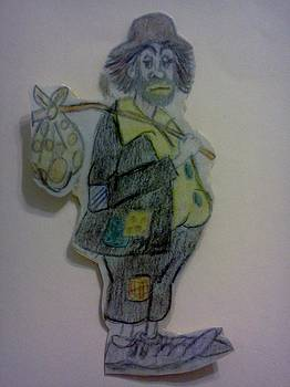 Clown with a bag by Christy Saunders Church
