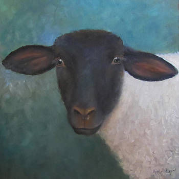 Clyde - A Suffolk Lamb Painting by Cheri Wollenberg