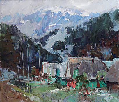 Snow in the mountains by Alexander  Kriushin