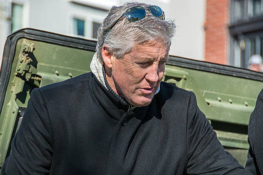 Coach Pete Carroll by Glenn McGloughlin