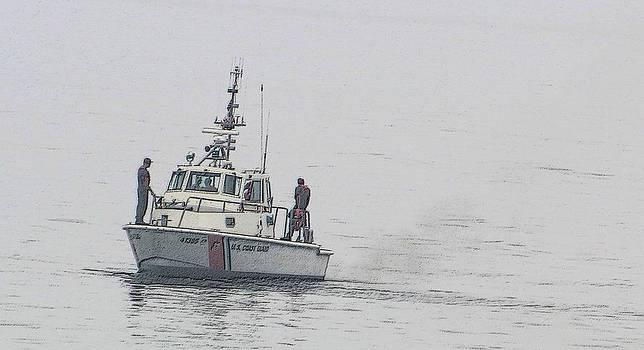 Coastguard on patrol by Gary Pavlosky