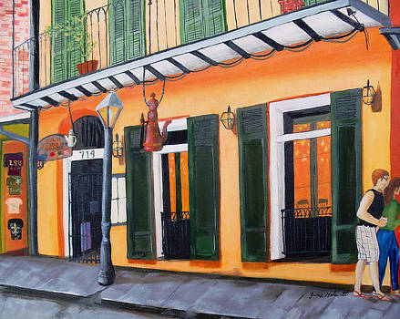 Coffee Pot Restaurant-French Quarter by June Holwell