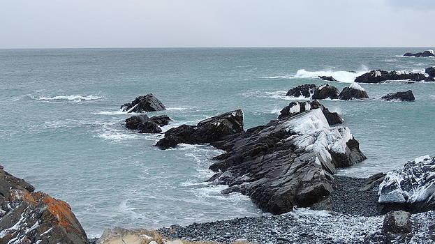 Cold Atlantic Rocks by Bozena Zajaczkowska