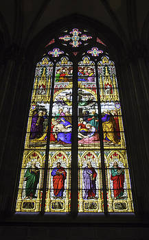 Teresa Mucha - Cologne Cathedral Stained Glass Window of the Lamentation