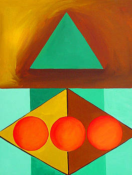 Color Geometry - Triangle by Carolyn Goodridge