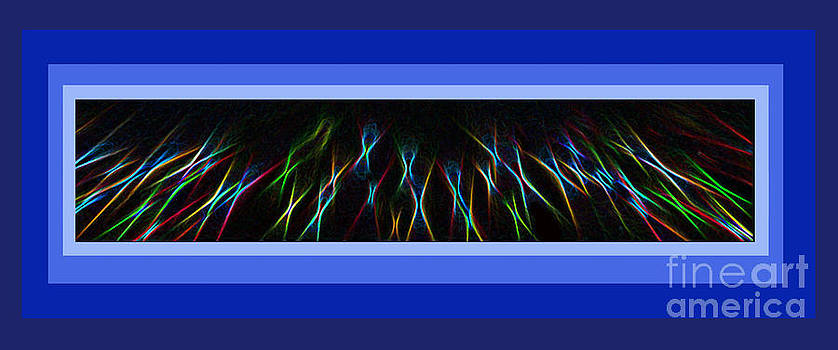 Color Light Rays Framed In Blue Hues by ImagesAsArt Photos And Graphics