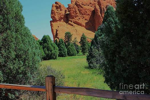 Colorado Garden of the Gods from the Trail by Robert D  Brozek