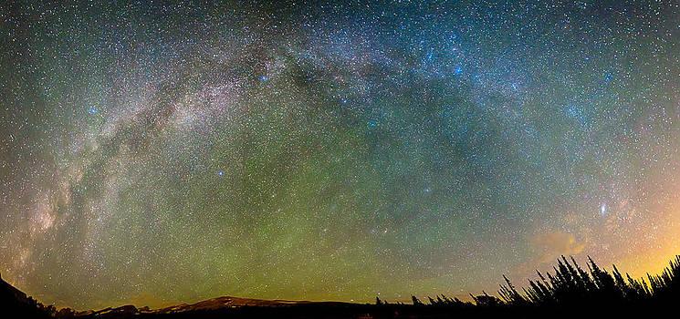 James BO  Insogna - Colorado Indian Peaks Milky Way Panorama