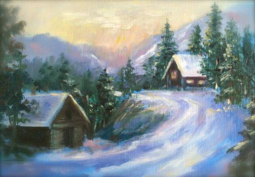 Colorado Mountain Scene by Holly LaDue Ulrich