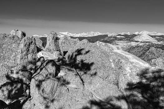 James BO  Insogna - Colorado Rocky Mountain Scenic View in Black and White