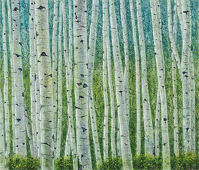 Colorado Springtime Aspen II by Karla Horst