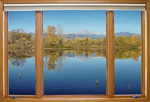James BO  Insogna - Colorado Waterfront Reflections Wood Window View