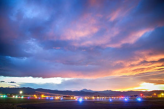 James BO  Insogna - Colorado Vance Brand Airport Sunset View