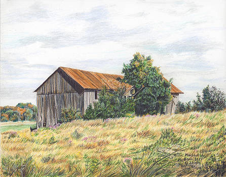 Colored Pencil Barn by Marshall Bannister